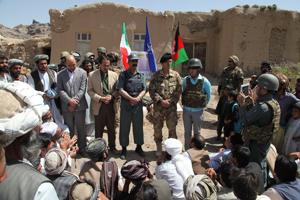 Un momento della cerimonia nel villaggio di Gala Chaghir
