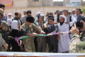 Un momento della cerimonia nel vilaggio di Gonah Aabad