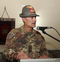 il comandante cedente della TF 'Genio', colonnello Giovanni Fioretto