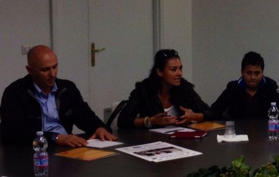 da sx - Rosario Gagliano, Giusy Versace e Vincenzo Alagona