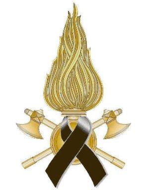 stemma vigili del fuoco a lutto