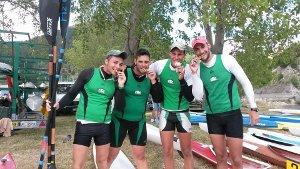 I vincitori del titolo regionale del K4 Under 23 metri 500