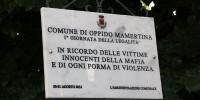 Foto targa vittime mafia