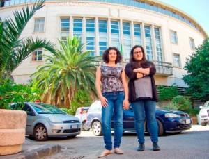 Le stagiste Alessandra e Marianna davanti la Camera