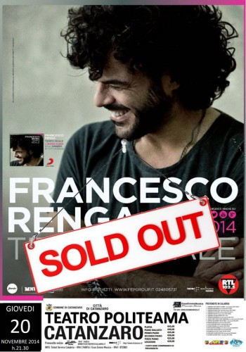 francesco renga sold out