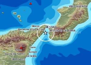 Terremoto Stretto di Messina 20 gennaio 2015
