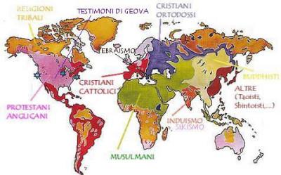 Diffusione Religioni nel Mondo