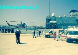 arrivo nave Orione Reggio Calabria