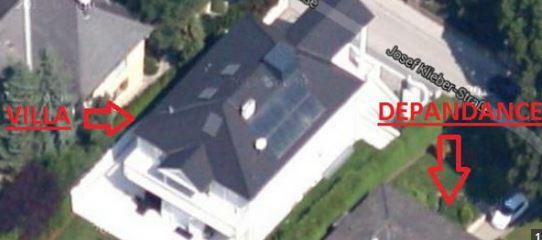 villa di lusso confiscata