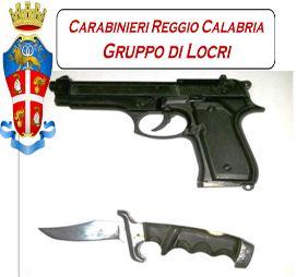 coltello e pistola
