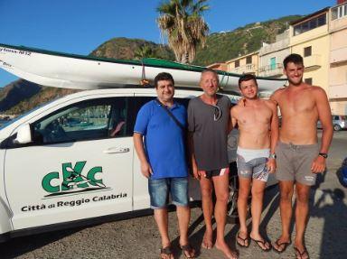 Arrivo a bagnarre  giro di Calabria in kayak