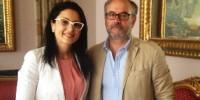 Foto Giovanni Verduci e Angela Marcianò a margine dell'incontro