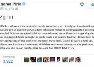 addio alla Juve twt Andrea Pirlo