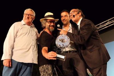 Foto della premiazione Gerardo Sacco_Walter Scerbo_Luca Lionello_Giacomo Battaglia