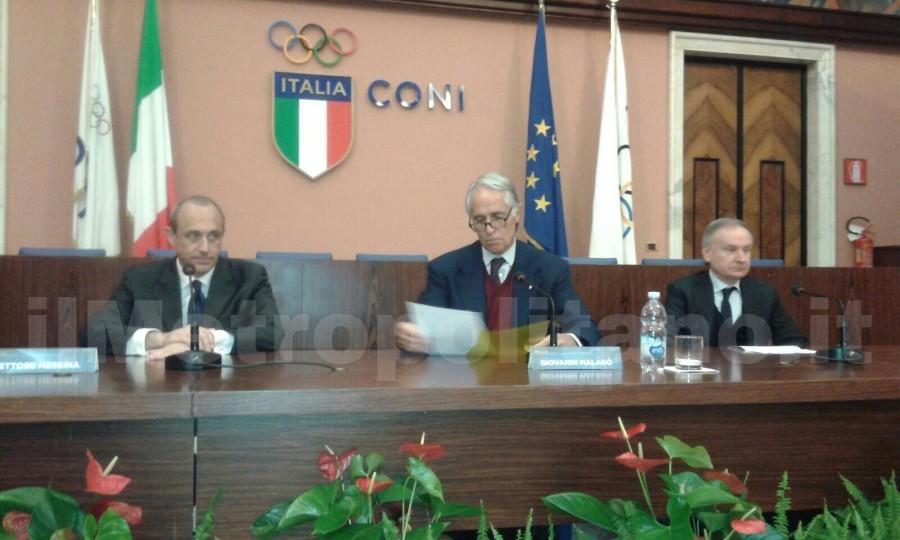 Presentazione Ettore Messina Tavolo CONI Roma