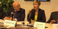 Sottosegretario Bianchi durante la conferenza della Calabria alla Bit di Milano