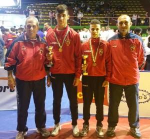 Atleti premiati con i tecnici
