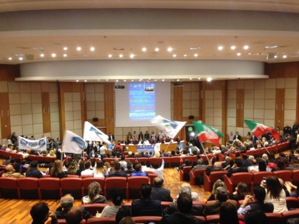 conferenza centrodestra unito Sala Callipari