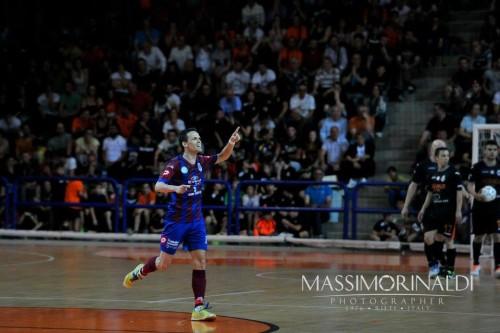finale Play off calcio a 5 Esultanza Zanchetta
