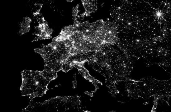 Europa mappa notte