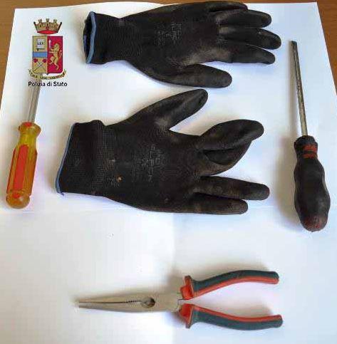 attrezzi da ladro Polizia