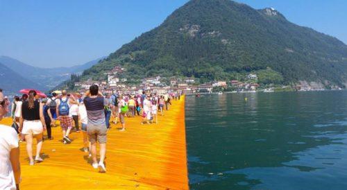 Inaugurata passerella sul lago d'Iseo