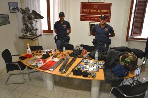 Assalto esplosivo al bancomat,inseguiti e arrestati a Rimini