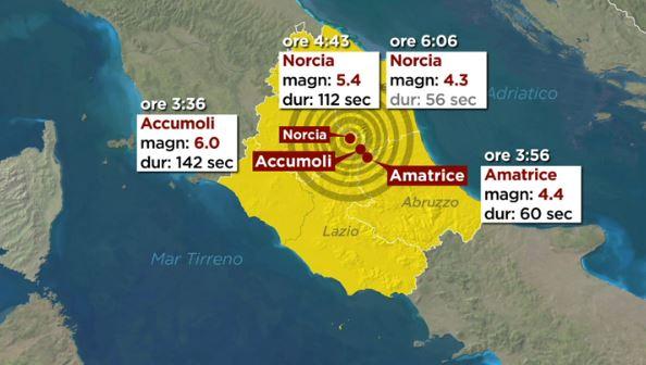 terremoto in Italia Centrale - fonte Rai news