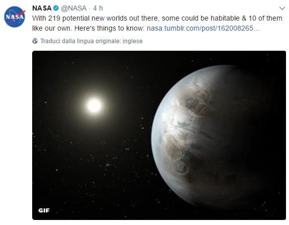 Scoperti mondi alieni abitabili esterni al Sistema Solare — NASA
