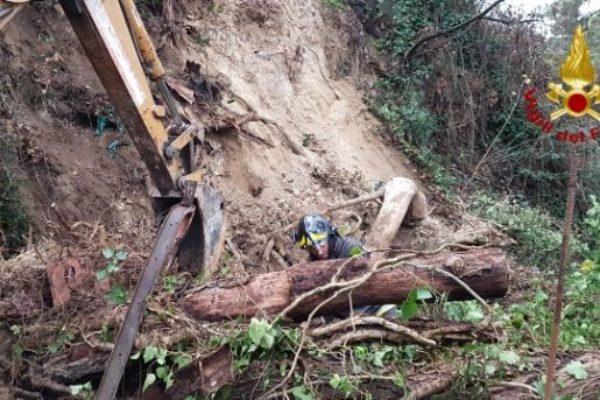 Rieti, i Vigili del Fuoco impegnati a fronteggiare l'emergenza maltempo