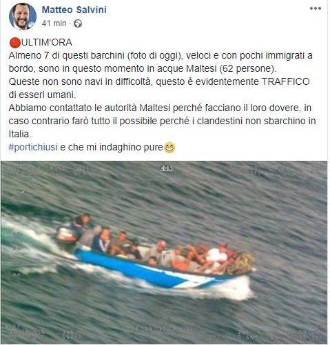 Il ministro Grillo smentisce Salvini sui migranti: