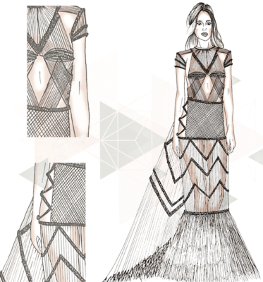 """df220dddc008 Vince il concorso """"Sposa Futura"""" la giovane stilista Sharon Pacitto  dell Accademia di Belle Arti di Frosinone"""