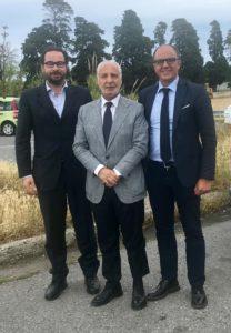Nella foto il RUP Mobilia, il Commissario Straordinario dell'AP di Messina De Simone e il Segretario generale Gentile al rientro dalla missione a Palermo