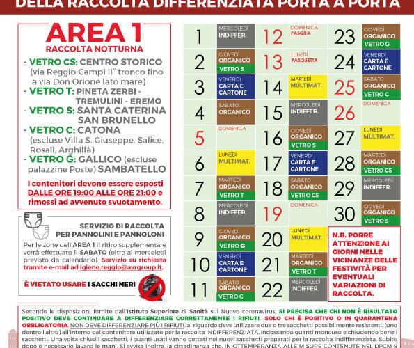 Reggio Calabria. Calendari di raccolta differenziata porta a porta