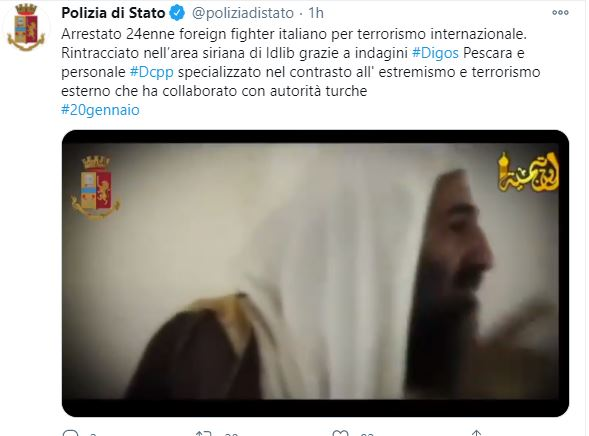 Pescara, misura cautelare a 24enne foreign fighter